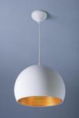 Biało złota lampa wisząca GX6856