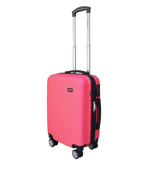 WALIZKA walizki kółka torba samolot ZESTAW M + L RÓŻOWA 1356 + 1357 zdjęcie 2