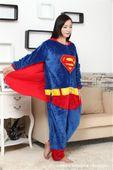 PIŻAMA KIGURUMI ONESIE KOMBINEZON SUPERMAN M zdjęcie 6