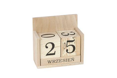 Wieczny kalendarz z drewna #1