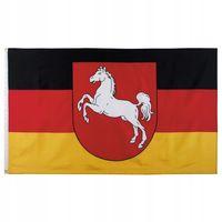 Flaga na maszt 90 x 150 cm Dolna Saksonia