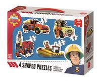Jumbo 19275 Puzzle Strażak Sam 4 zestawy - 44 puzzle