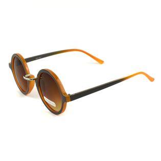 Okulary przeciwsłoneczne damskie szaro-pomarańczowe