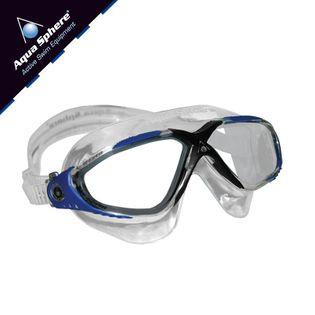 Gogle pływackie VISTA Kolor - Aqua Sphere - Vista - MS173118 - transparent / granat / jasne szkła