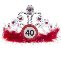 TIARA diadem srebrny na 40 URODZINY dekoracja