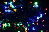Lampki ogrodowe 100 LED, kolorowe zdjęcie 1