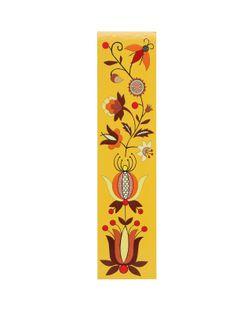 Zakładka do książki - wzory kaszubskie - haft borowiacki