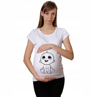 Koszulka ciążowa Bobasek nadruk dla przyszłych MAM
