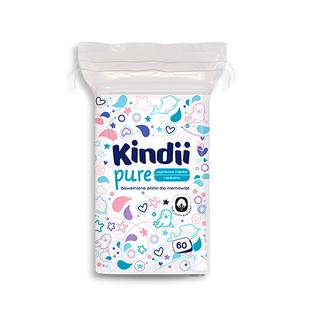Płatki dla niemowląt Cleanic Kindii Baby Sensitive (60 sztuk) 3435