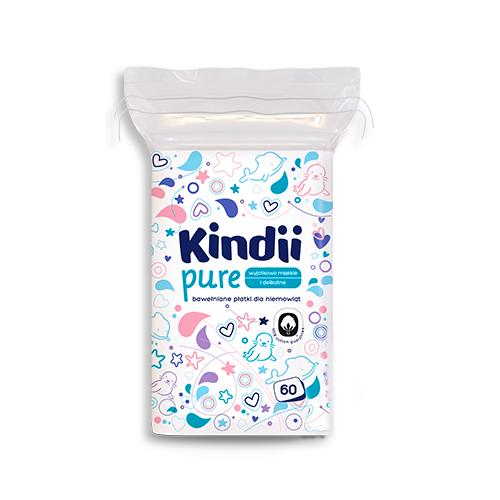 Płatki dla niemowląt Cleanic Kindii Baby Sensitive (60 sztuk) 3435 zdjęcie 1