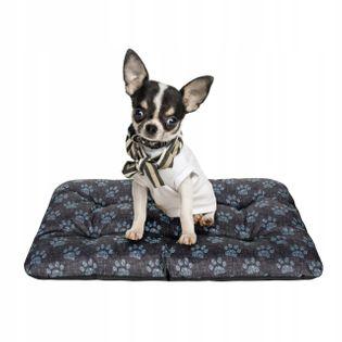 Legowisko dla psa poducha 70x50 ŁAPY LEN !