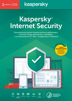 Kaspersky Internet Security 1PC 1 rok kontynuacja