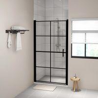Lumarko Drzwi prysznicowe, hartowane szkło, 100x178 cm, czarne!