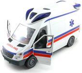 Dickie Samochód SOS Ambulans Karetka z światłem i dźwiękiem