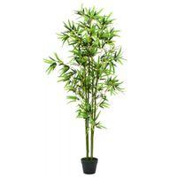 Sztuczny bambus z doniczką, 175 cm, zielony
