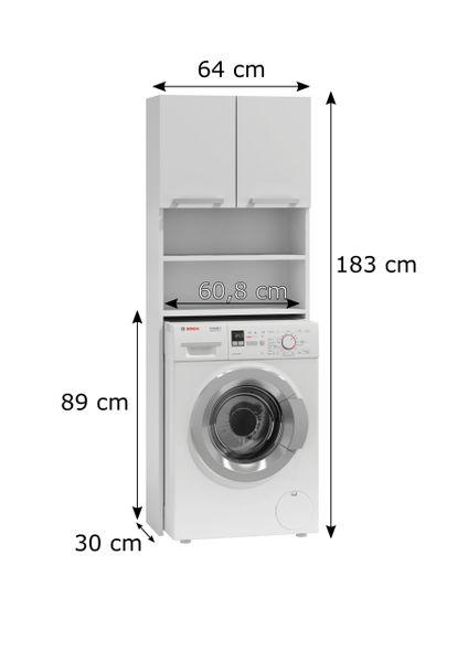 Szafka łazienkowa nad pralkę biel zdjęcie 5