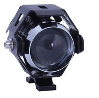 Halogen motocyklowy mini U5/10W led kolor czarny + włącznik gratis
