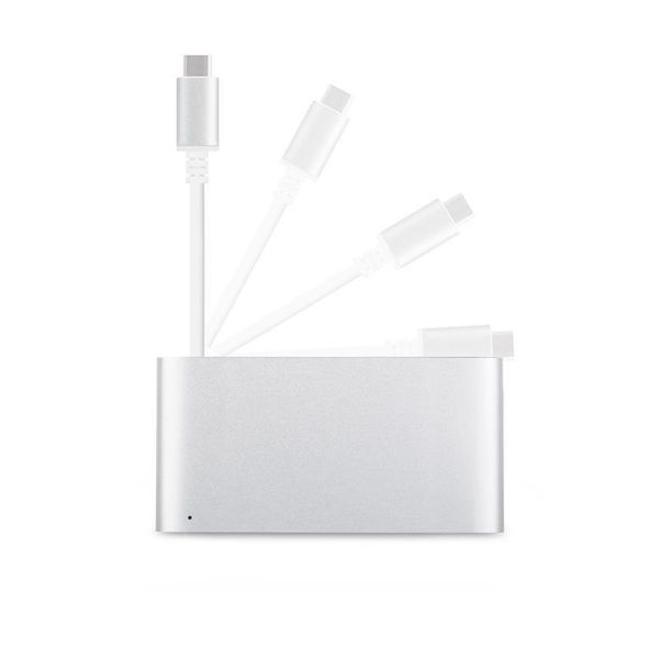 Moshi USB-C Multiport Adapter - Aluminiowy hub 3-w-1 USB-C/Thunderbolt 3 (Silver) zdjęcie 3