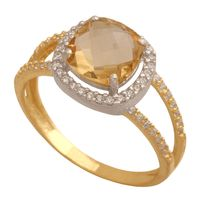 pierścionekzłoty z cyrkoniami rozmiar 23