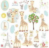 RoomMates naklejki wielokrotnego naklejania Żyrafa Sophie