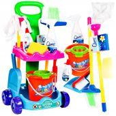 Zestaw do Sprzątania dla Dzieci Wózek Mop Zmiotka Akcesoria Y150