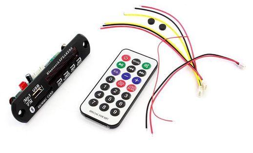 RS6 MODUŁ SAMOCHODOWY RADIO MP3 PILOT USB 12-24V