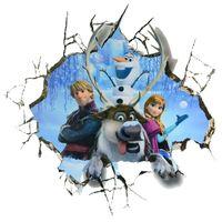 Naklejki na ścianę ścienne Kraina Lodu Frozen Elsa Olaf WS-0130