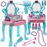 Toaletka z pianinkiem dla dziewczynki z suszarką muzyka światła Y221