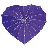 Parasolka w kształcie serca w kolorze fioletowym zdjęcie 4