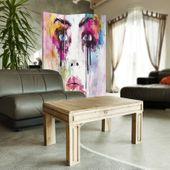 Parawan pokojowy, Twarz z plam farby 110x150 zdjęcie 3
