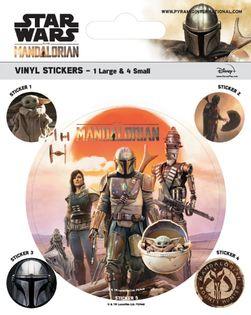 Zestaw naklejek Gwiezdne Wojny Mandalorian (Legacy) - 5 szt