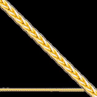 60 cm łańcuszek dmuchany typu Lisi ogon żółte i białe złoto 585/14k