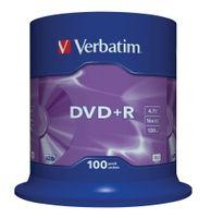 Verbatim DVD+R 16x 4.7GB 100P CB            43551