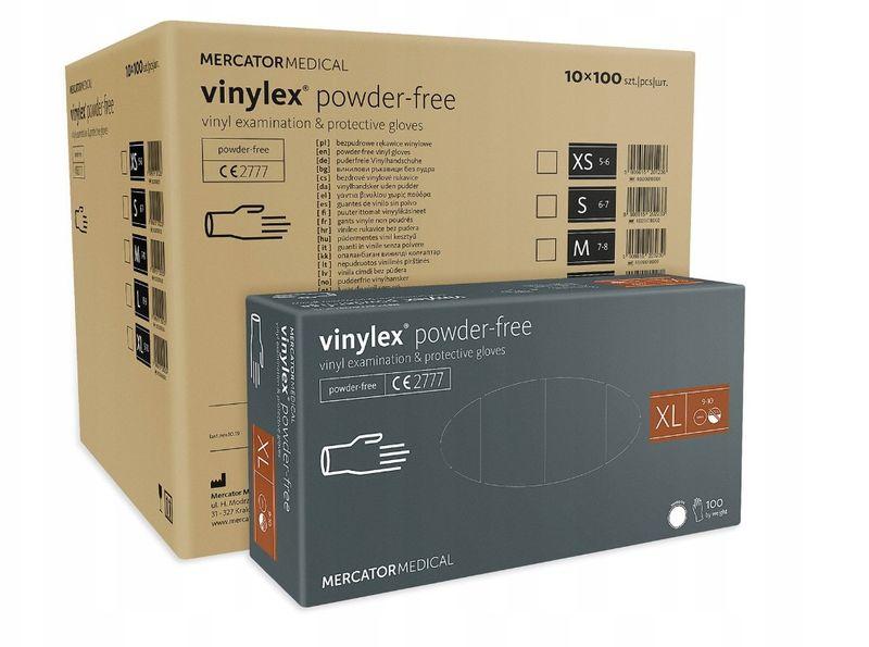 Rękawice winylowe vinylex powder-free XL karton 10 x 100 na Arena.pl