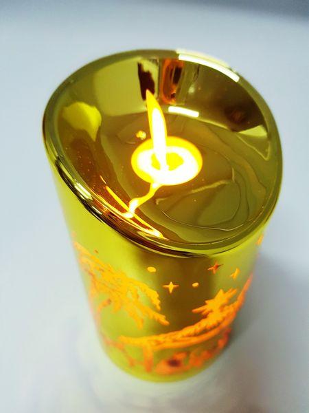 Świeczka LED na baterie świąteczne wzory / kolory zdjęcie 5