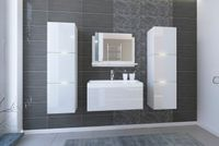 Eleganckie meble do łazienki IBIZA z umywalką 80 Zestaw wiszący Połysk