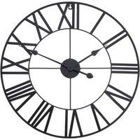 Zegar ścienny metalowy duży RETRO LOFT 57 cm