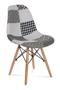 Krzesło AMY patchwork biały/czarny !!! TOP MEBLE !!!