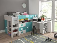 Meble młodzieżowe, łóżko piętrowe z biurkiem i szafą TOLEDO 1