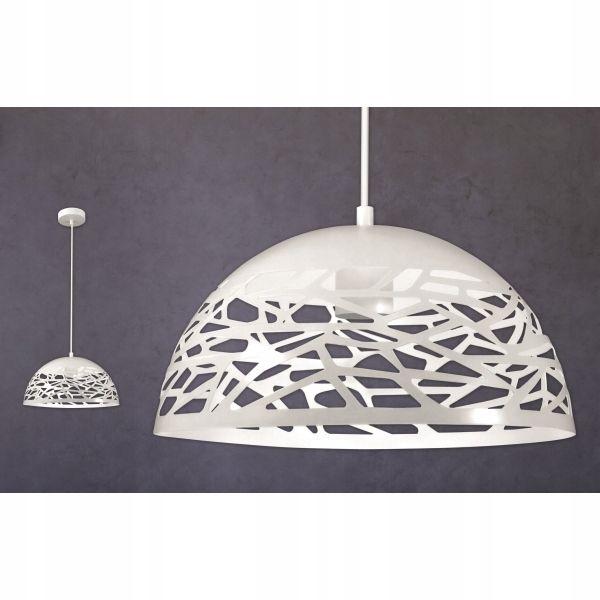 Lampa Sufitowa żyrandol Ażurowy Metalowy Ozdobny Kuchni E27 Biała