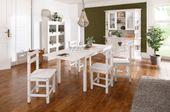 Ponadczasowe, sosnowe krzesła w kolorze białym - 6 sztuk zdjęcie 4