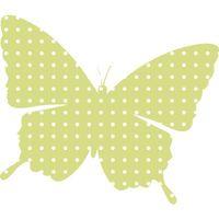 Limonkowy motyl w kropeczki 10 x 10 cm naklejka ścienna dziecka