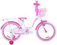 Rower dziecięcy 20 Fuzlu Lilly biało-różowy