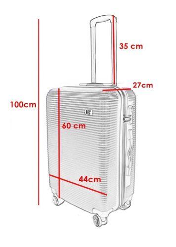 WALIZKA walizki kółka torba samolot ZESTAW M + L SIWA 1057+1058 na Arena.pl