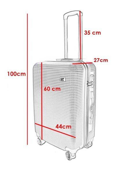 WALIZKA walizki kółka torba samolot ZESTAW M + L SIWA 1057+1058 zdjęcie 2