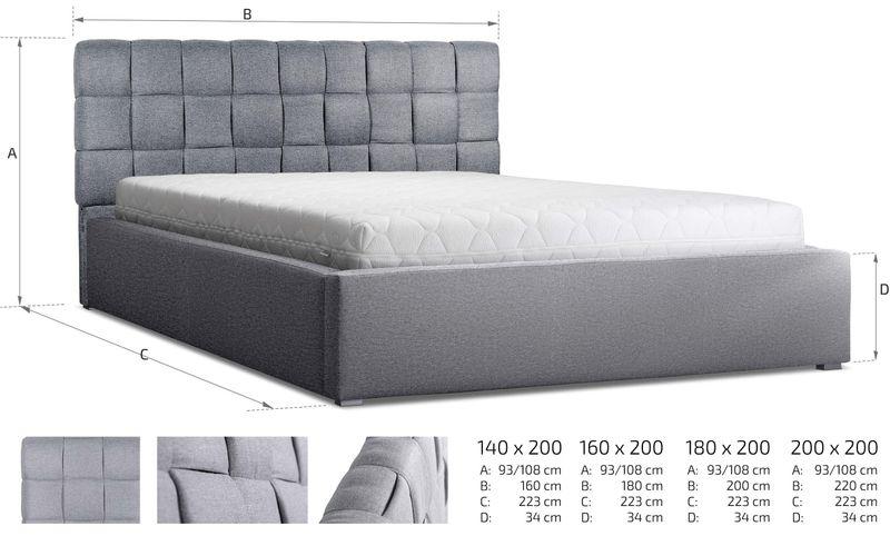 Łóżko tapicerowane 160x200 + stelaż SZYBKA WYSYŁKA zdjęcie 4