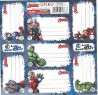 Avengers Naklejki Na Zeszyt 7szt wzór 3