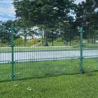 VidaXL Panel ogrodzeniowy ze słupkami, żelazny, 6 x 1,2 m, zielony