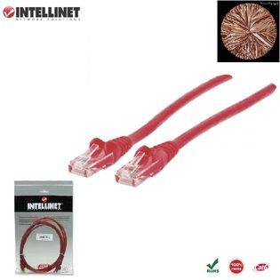 Patch Cord 100% miedź Intellinet Cat.6 UTP, 5m, czerwony ICOC U6-6U-050-RE