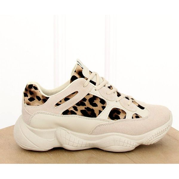 Buty sportowe beżowe LV88P Leopard brązowe | Buty, Buty